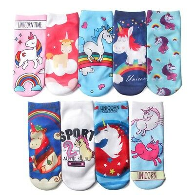 Cute Unicorn Socks Low Cut Novelty Kids Women Girls Boys Teenager Lovely Socks