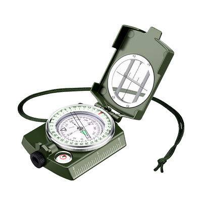 Enkeeo Outdoor Hiking Military Waterproof Compass with Pouch for Navigation BBQ