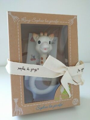 So Pure Sophie The Giraffe Teething Comforter 100% Natural Rubber Ring Bnib Baby Teethers