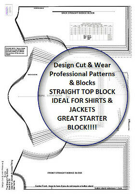 THE STRAIGHT LOOSE BODICE BLOCK SIZES 8 TO 18 - Design Your own Patterns! SLOPER