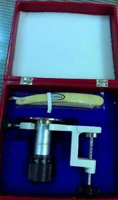 Microtome with Planoconcave Hand and Table Knife & Table Clamp Free Shipp
