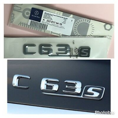 Mercedes AMG C63S Chrome Rear Badge Emblem Benz C-Class C63 C250 C220 C250 C350
