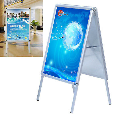 A1 Poster Stand A-Board Pavement Sign Display Alu Stand Waterproof Snap Frame
