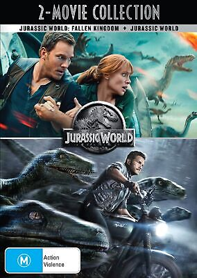 Jurassic World / Jurassic World Fallen Kingdom DVD Region 4 NEW
