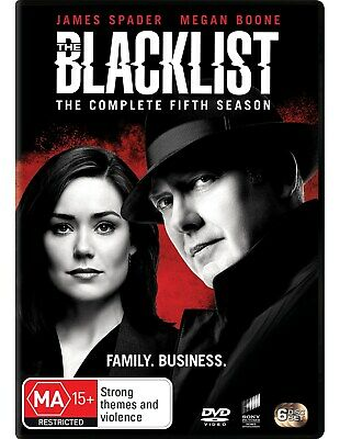The Blacklist The Complete Fifth Season 5 Box Set DVD Region 4 NEW