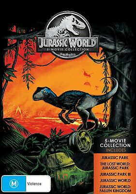 Jurassic Park 5 Movie Collection Box Set with Digital Download DVD Region 4 NEW