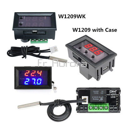 W1209 W1209WK Digital Thermostat Temperature Controller Switich Sensor Case 12V