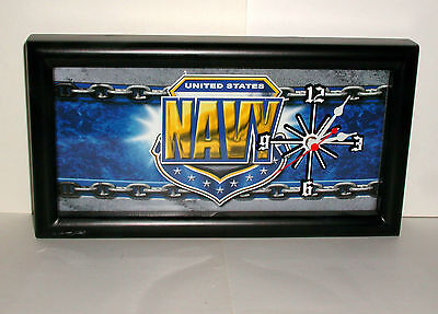 UNITED STATES Military NAVY License Plate Wall Clock Quartz Movement USA Made