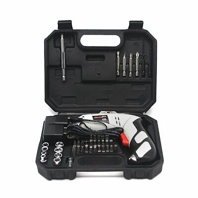 45Pc 4.8V Electric Rechargeable Battery Cordless Screwdriver 36 Drills Set Tool