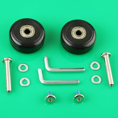 2 Set OD 40mm Deluxe Suitcase Luggage Wheel Axles 30/33/35mm Replacement Repair