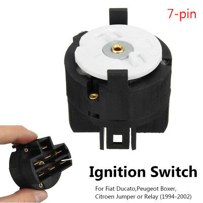 7 Wide Pins Ignition Starter Switch For Fiat Ducato Peugeot Boxer Citroen 94-02