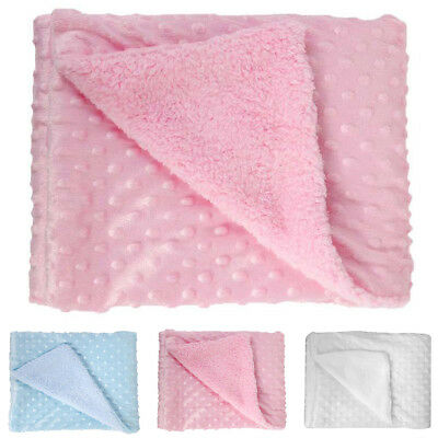 Newborn Baby Soft Fleece Sleeping Blanket Pram Crib Moses Basket Swaddle Wrap