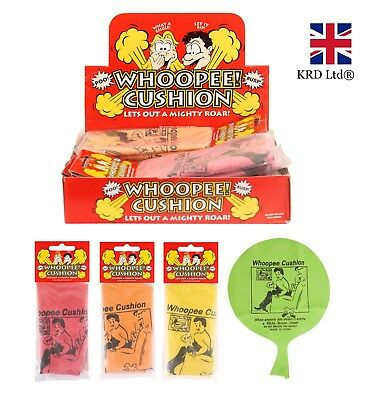 2 6 12 24 WHOOPEE CUSHION Fart Toy Boy Girl Gift Favour Loot Party Bag Filler UK