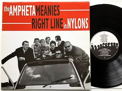 The Amphetameanies - Right Line In Nylons LP   Rat Race Records RRR 002