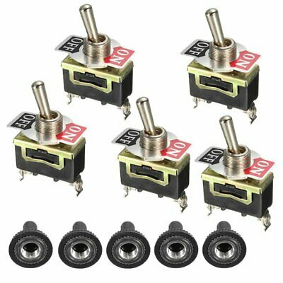 2Pin Car Boat Rocker Metal Toggle Switch 15A 250V ON/OFF Power Controller 5pcs