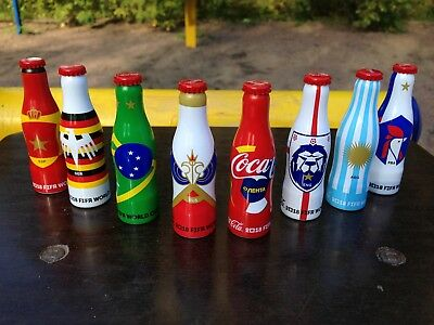 Coca Cola very rare full set of 8 mini bottles Fifa 2018 from Russia