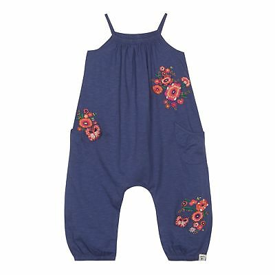Mantaray Womens 'Girls' Navy Floral Embroidered Jumpsuit