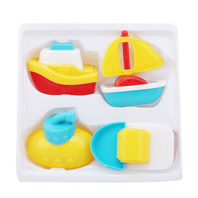 Baby Bath Boats Toys Floating Toddler Children Fun Play Toy 4pc LH