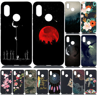For Xiaomi Mi A2 Lite 9 Redmi Note 7 Pro Shockproof Painted Soft TPU Case Cover