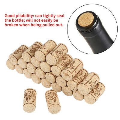 100Pcs 22 *44mm Natural Cork Straight Corks Wooden Wine Bottle Stoppers Bungs AU