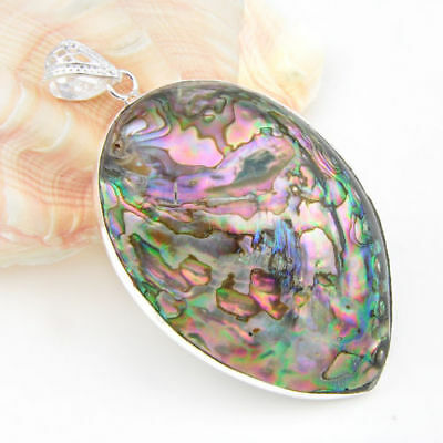 100% Natural Charm Abalone Shell Gems Multi Color Women Gifts Necklace Pendants
