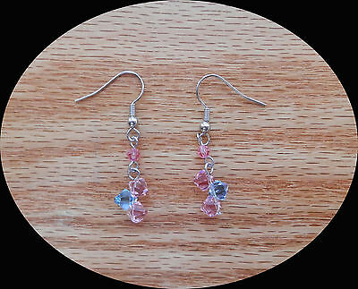 Handmade Dangle Earrings With Swarovski Crystal Beads Earrings E1307