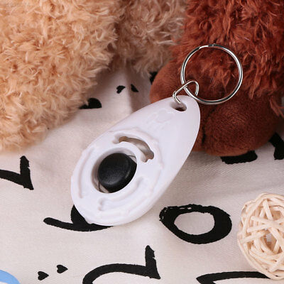 F938 Pet Dog Training Clicker Trainer Teaching Train Tool With Keychain Tool