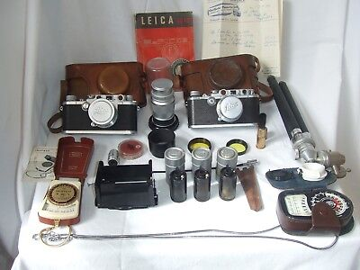 Leica Collection Inludes Iiic And Iiia Cameras Plus Much More