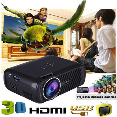 10000lumens 1080P Multimedia Portable HD LED Projector Home Theater Projector TT