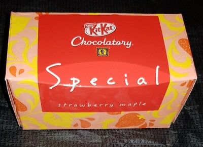 KIT KAT Chocolatory Tokyo JAPAN **STRAWBERRY MAPLE** SPECIAL LIMITED EDITION **