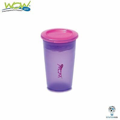 JUICY! WOW Cup for Kids Translucent Spill Free Tumblers |12+ Mth | Purple/Pink
