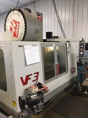 Used 2001 Haas VF-3 CNC Vertical Machining Center Mill 40x20 TSC Side Mount 40