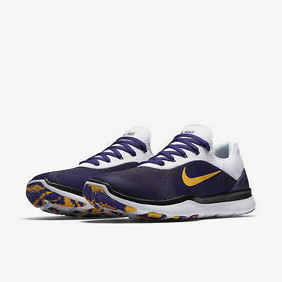 dda806ef1bc578 Nike Free Trainer V7 Week Zero LSU Tigers Men s Shoes Purple Gold AA0881 500