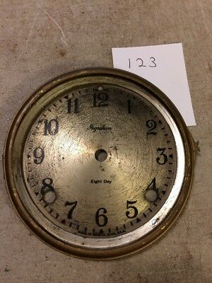 Ingraham Tambour Mantle Clock Dial And Bezel No Glass