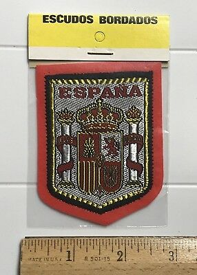 NIP Espana Spain Spanish Coat of Arms Crest Shield Red Felt Patch Badge