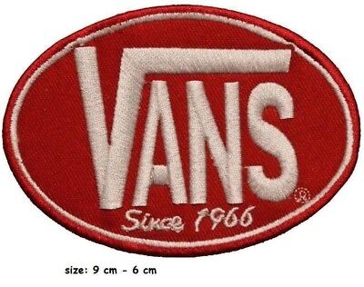 VANS SINCE 1966 SKATEBOARD Embroidered Iron on Sew on Patch Badge