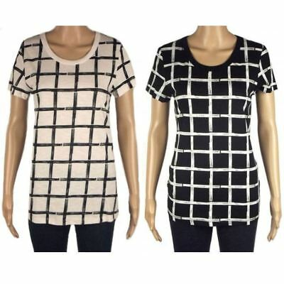 Wholesale Job Lot of 9 Ex Chainstore Check Checked T-Shirt Tops Womens Clothing