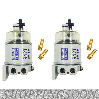 2 Packs New R12T For Marine Spin-On Fuel Filter / Water Separator 120At