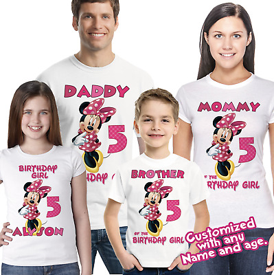 Minnie Mouse Birthday Shirt Family Shirts