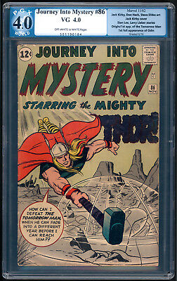 """JOURNEY INTO MYSTERY #86 """"1962"""". 4th App. of THOR! Art by Jack Kirby. PGX 4.0."""