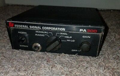 Federal Signal PA300 Electronic Amplifier Controller