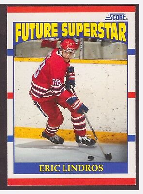 1990-91 Score Eric Lindros Future Superstar ROOKIE Hockey Card #440 NRMT