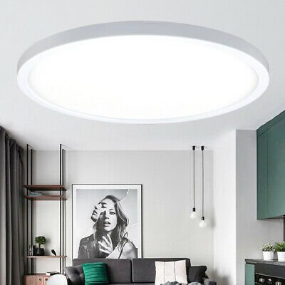 9W 18W 24W Modern Round White LED Flush Mounted Ceiling Lamp Down Light Fixture
