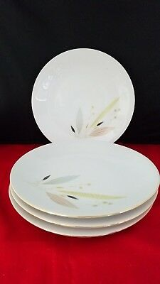 """Bareuther  Bavaria Germany set of 4 Salad Luncheon plates 7 3/4"""" d"""