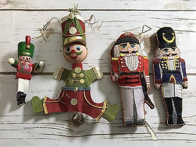 Lot Of Vintage Christmas Ornaments Nutcrackers Soldiers