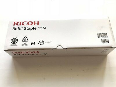 Genuine Ricoh 413026 Refill Staple Type M box with 5 new refills