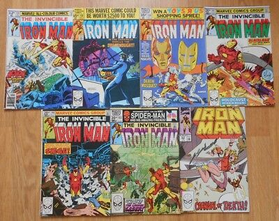 The Invincible Iron Man Issues 124, 138, 139, 147, 148, 153 & 253: Excellent Con