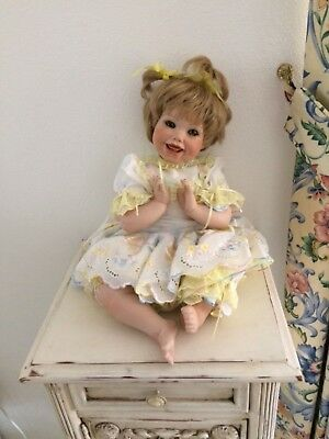 Porcelain life size baby doll - flexible pose antique reproduction hand crafted