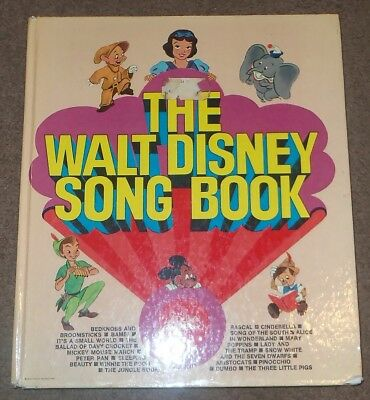 The Walt Disney Song Book Vintage 1970s Songbook A Golden Press Kid Music 1974