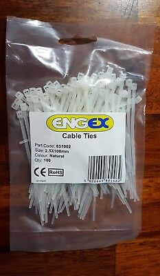 pack size Nylon Cable Ties 100mm long 2.5mm wide choose colour